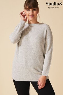 Studio 8 Grey Edith Funnel Neck Jumper
