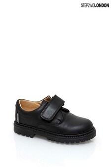 Step2wo Black Sir Durable Hook And Loop Shoes