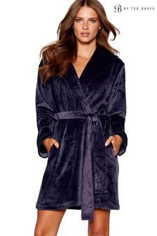 B by Ted Baker Blue Short Embossed Robe
