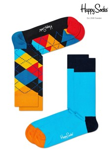Happy Socks Blue/Multi Socks Two Pack