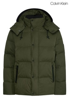 Calvin Klein Green Faux Down Padded Jacket