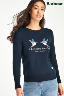 Barbour® Heritage Navy Embroidered Logo Kingfisher Sweatshirt