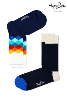 Happy Socks Navy Socks Two Pack