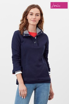 Joules Blue Beachy Funnel Neck Sweatshirt