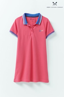 Crew Clothing Pink Poloshirt Dress