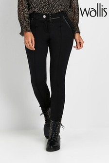 Wallis Petite Black Ponte Leggings
