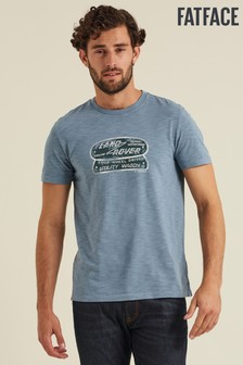 FatFace Blue Land Rover Badge Graphic T-Shirt