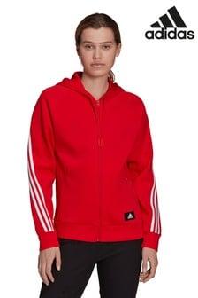 adidas Future Icon 3 Stripe Zip Through Hoodie