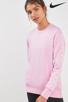 Nike Dri-FIT Pink Long Sleeve Graphic Crew