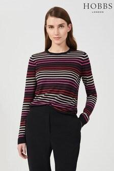 Hobbs Black Gigi Stripe Sweater