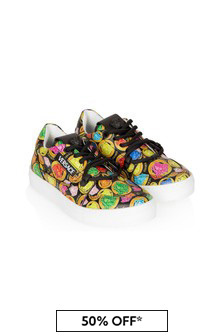 Versace Kids Black  Trainers