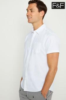 F&F White Linen Shirt