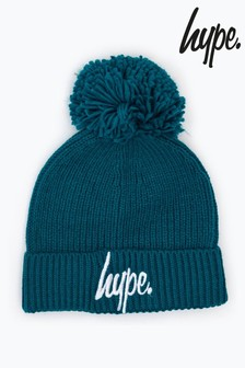 Hype. Knit Ribbed Bobble Beanie Hat