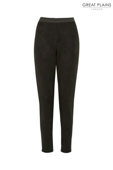 Great Plains Black Belle Suedette Trousers