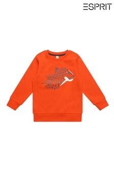 Esprit Orange Cheetah Sweatshirt