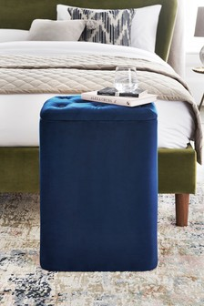 Wilson Velvet Laundry Storage Stool