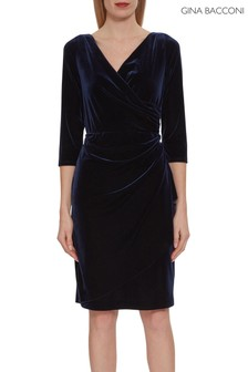 Gina Bacconi Letty Velvet Wrap Dress