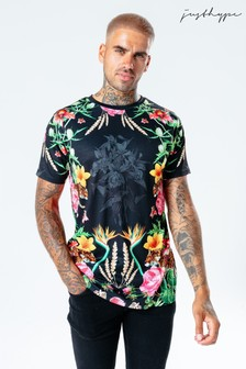Hype. Mens Multi Floral Leopard T-Shirt