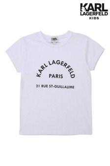 Karl Lagerfeld White Logo T-Shirt
