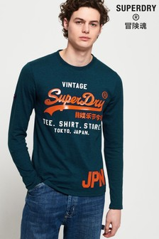 Superdry Shirt Shop Duo Long Sleeved T-Shirt