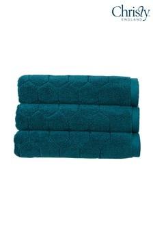 Christy Green Honeycomb Geometric Towel