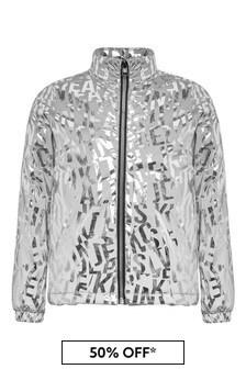 Calvin Klein Jeans Girls Silver Jacket