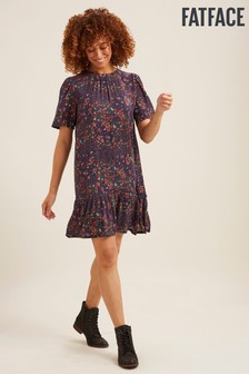 FatFace Blue Louise Meadow Patchwork Dress