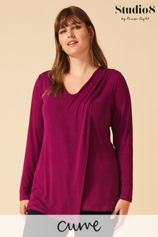 Studio 8 Purple Tamara Layer Top