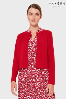 Hobbs Red Michelle Cardigan