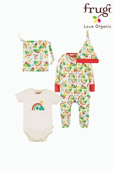 Frugi GOTS Organic 4 Piece Newborn Happy Days Print Gift Set