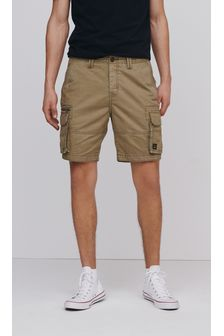 Premium 100% Cotton Laundered Stitch Detail Utility Cargo Shorts