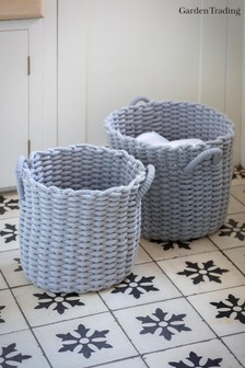 Set of 2 Chesil Round Baskets by Garding Trading