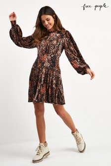 Free People Black Heartbeats Mini Dress