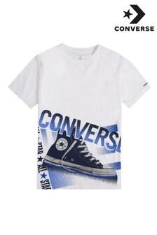 Converse Boys White Halftone Chuck T-Shirt