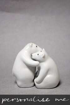 Personalised Polar Bear Salt And Pepper Set