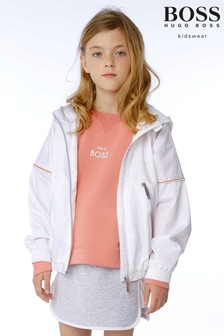 BOSS White Zip Jacket