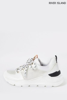 River Island White Fashion Runner Trainers
