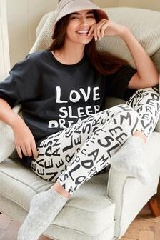 Cotton Blend Legging Pyjama Set