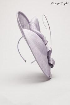 Phase Eight Purple Dawn Silk Bow Fascinator