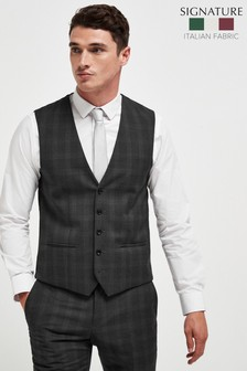 Signature Birdseye Check Slim Fit Suit