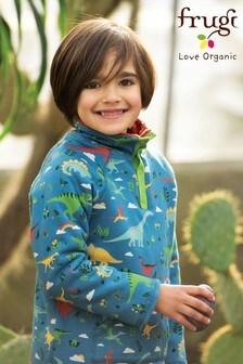 Frugi Fleece Lined Sweatshirt With A Handwarmer Pocket