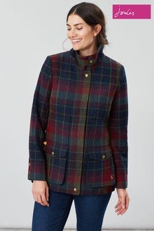 Joules Red Fieldcoat Tweed Jacket
