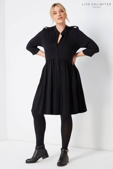 Live Unlimited Black Dropped Waist Dress