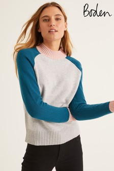 Boden Grey Flora Jumper