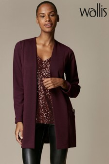 Wallis Purple Button Pocket Jacket