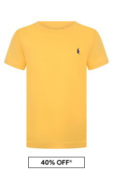 Boys Yellow Cotton Jersey T-Shirt