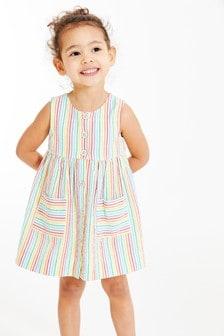 Sleeveless Button Through Dress (3mths-7yrs)
