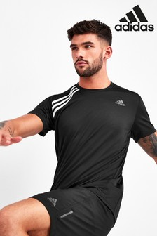 adidas Own The Run 3 Stripe T-Shirt
