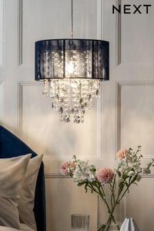 Navy Palazzo Easy Fit Pendant Lamp Shade