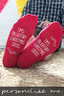 Personalised Obligatory Christmas Socks by Solesmith